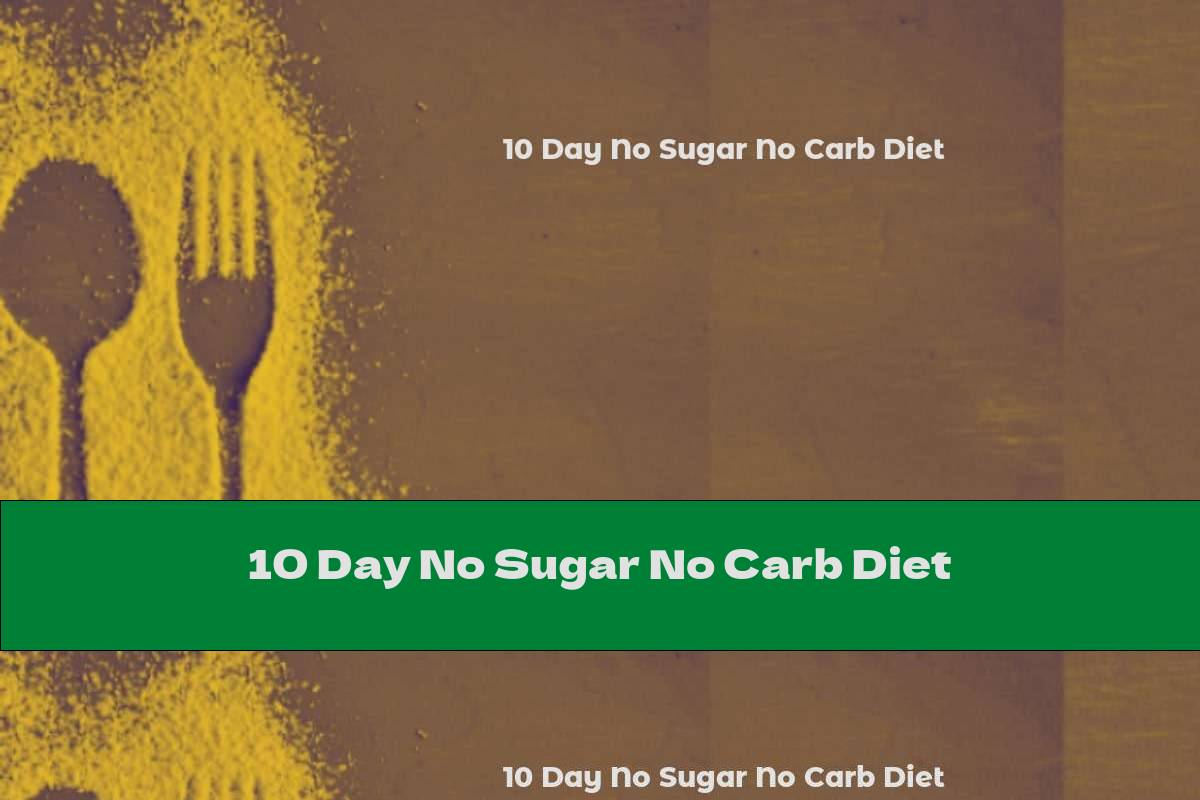 10 Day No Sugar No Carb Diet