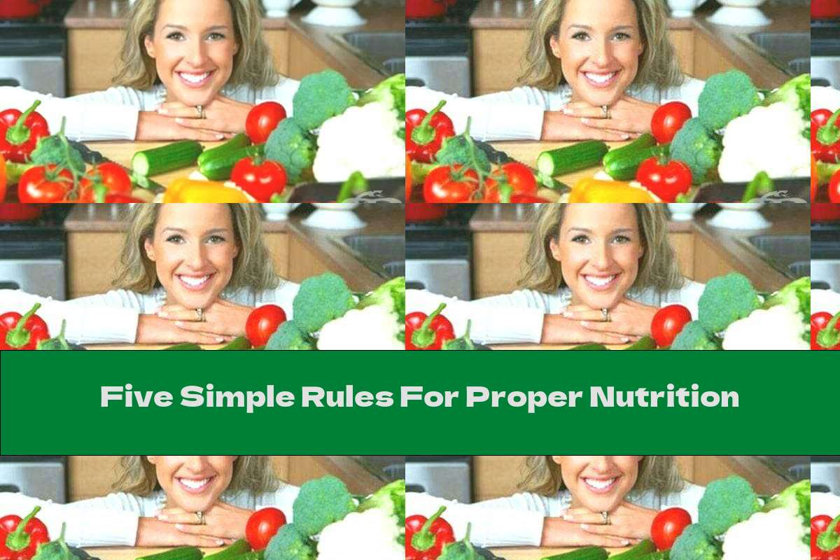Five Simple Rules For Proper Nutrition