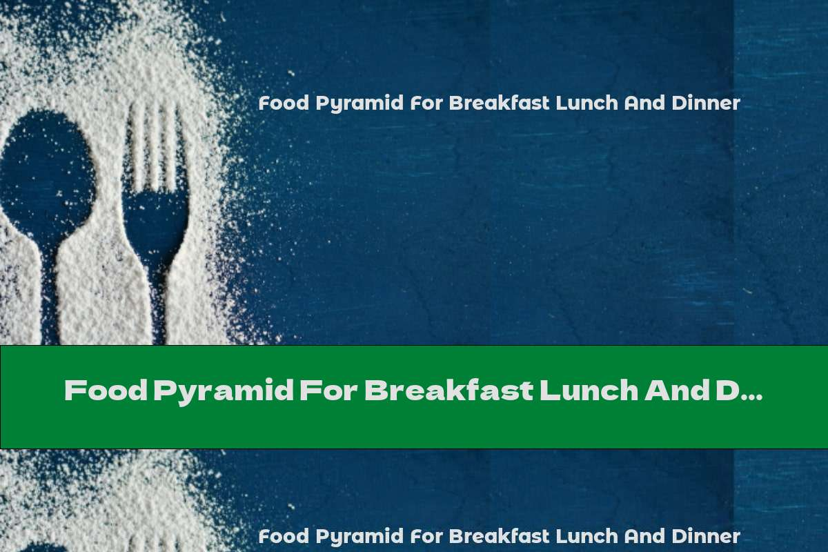 Food Pyramid For Breakfast Lunch And Dinner