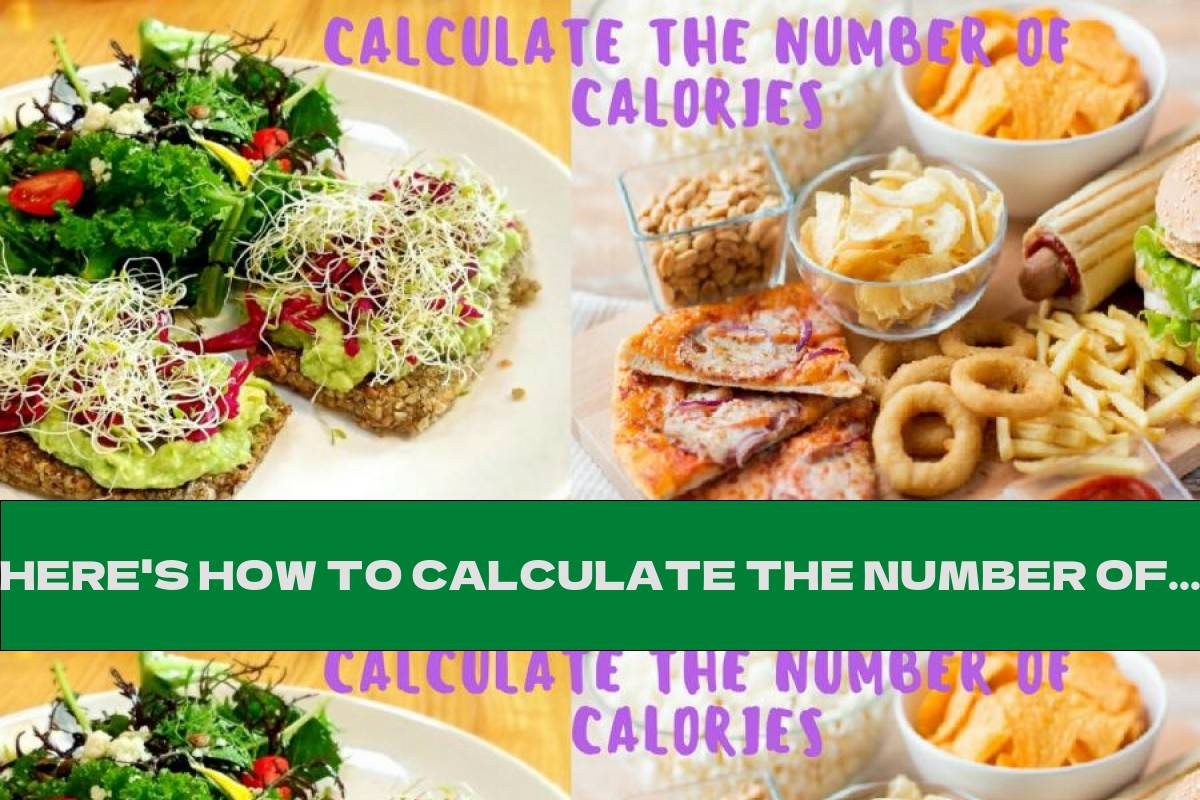 HERE'S HOW TO CALCULATE THE NUMBER OF CALORIES WE NEED