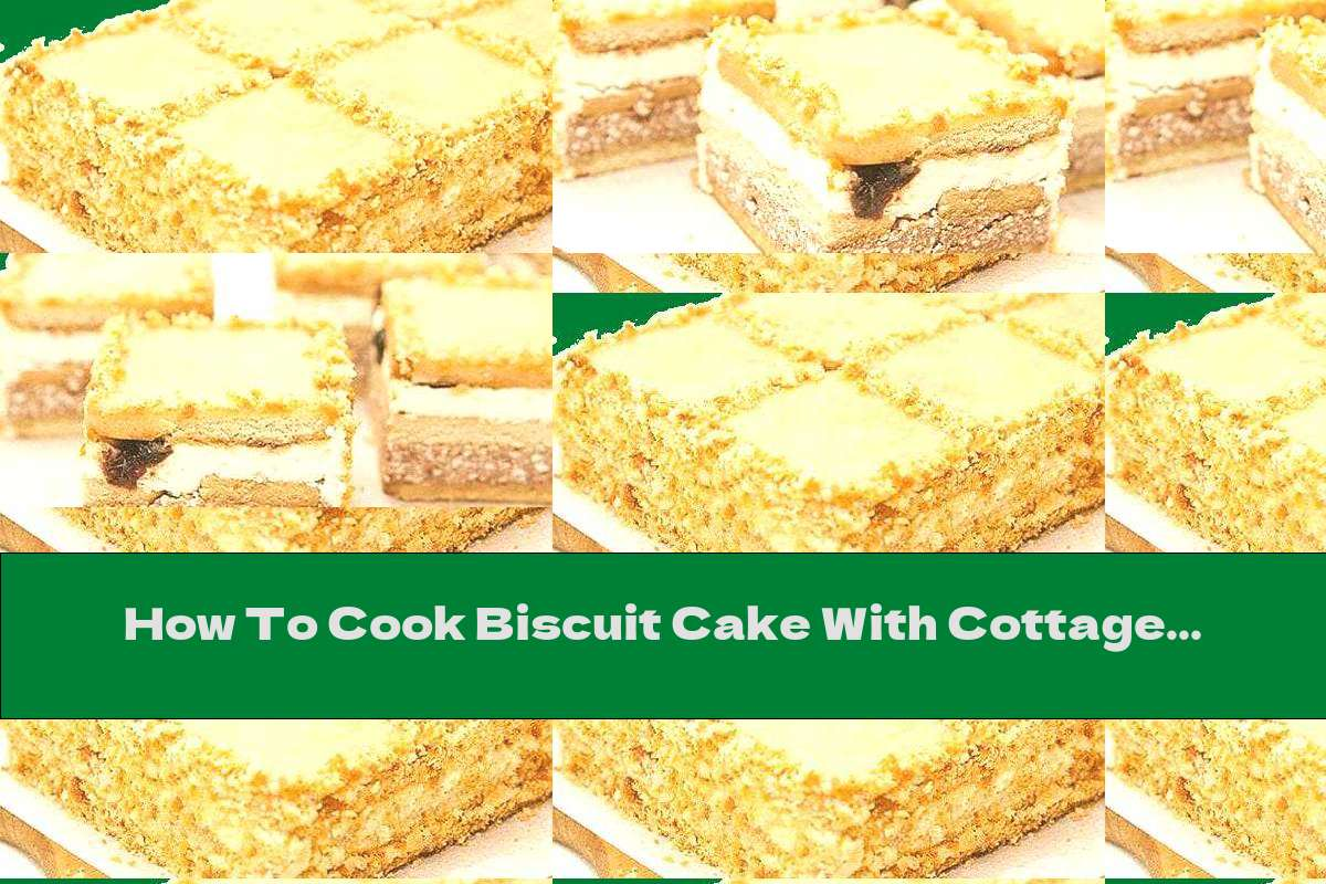 How To Cook Biscuit Cake With Cottage Cheese, Dried Fruit And White Icing - Recipe