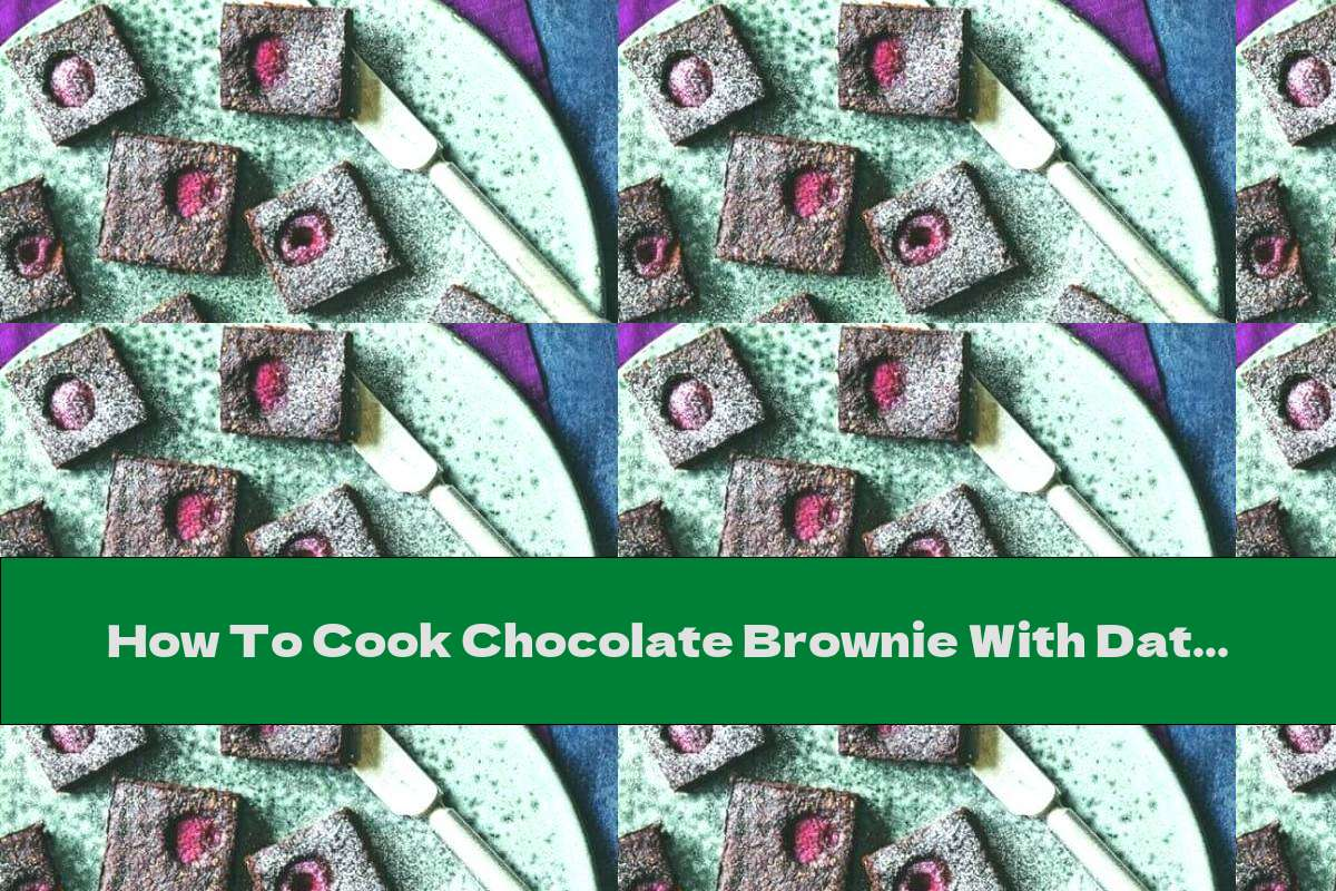 How To Cook Chocolate Brownie With Dates And Sweet Potatoes - Recipe
