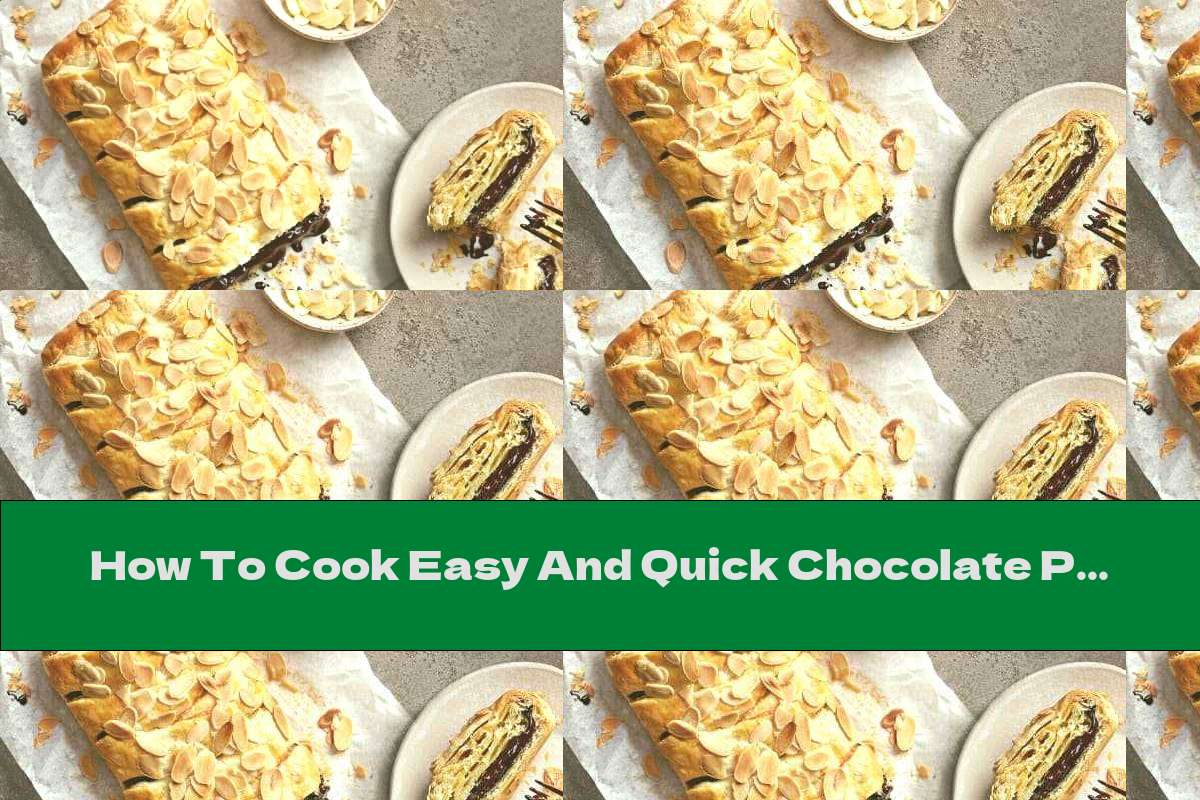 How To Cook Easy And Quick Chocolate Puff Roll With Almonds - Recipe