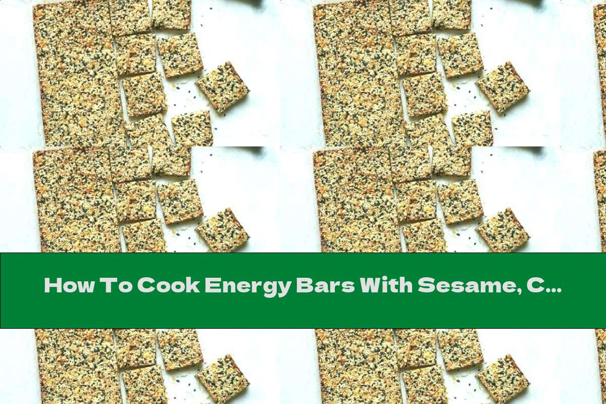 How To Cook Energy Bars With Sesame, Coconut And Honey - Recipe