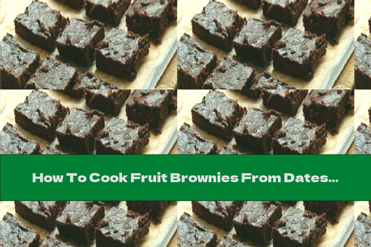 How To Cook Fruit Brownies From Dates And Prunes With Walnuts And Honey - Recipe
