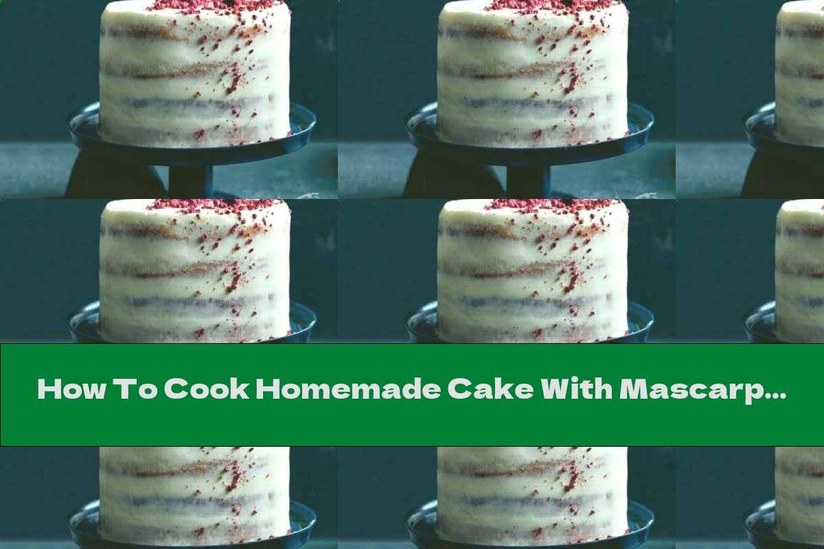 How To Cook Homemade Cake With Mascarpone, Coconut And Raspberry Cream - Recipe