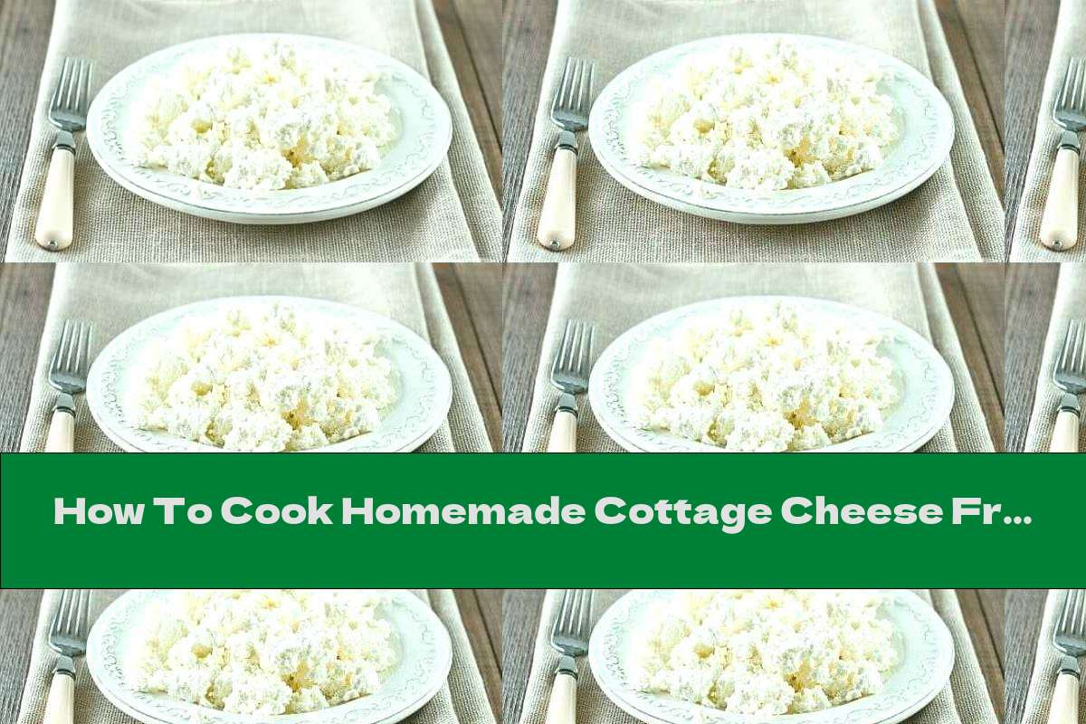 How To Cook Homemade Cottage Cheese From Fresh And Yogurt - Recipe