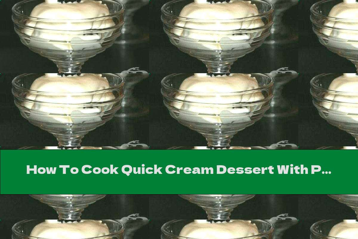 How To Cook Quick Cream Dessert With Prunes And Walnuts - Recipe