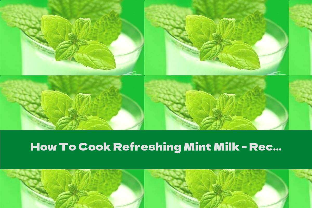 How To Cook Refreshing Mint Milk - Recipe