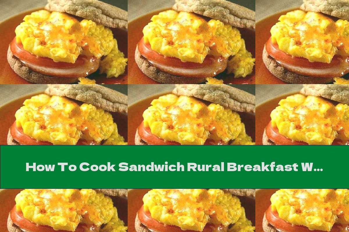 How To Cook Sandwich Rural Breakfast With Ham, Tomato And Egg - Recipe