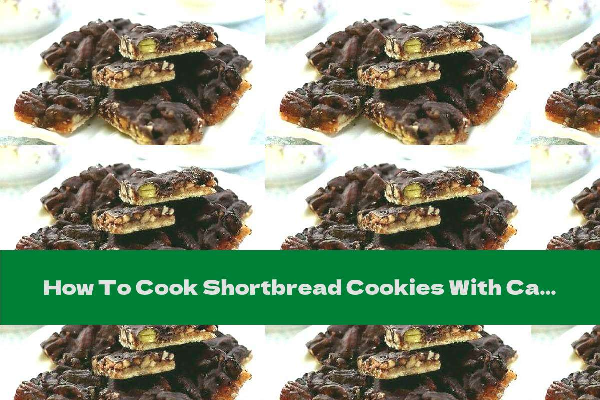 How To Cook Shortbread Cookies With Caramelized Walnuts And Chocolate - Recipe