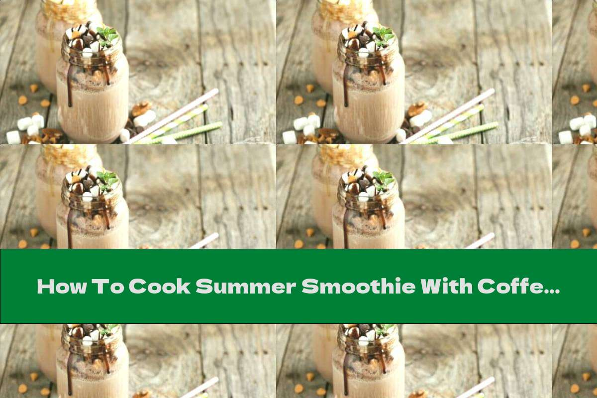 How To Cook Summer Smoothie With Coffee, Banana And Cinnamon - Recipe