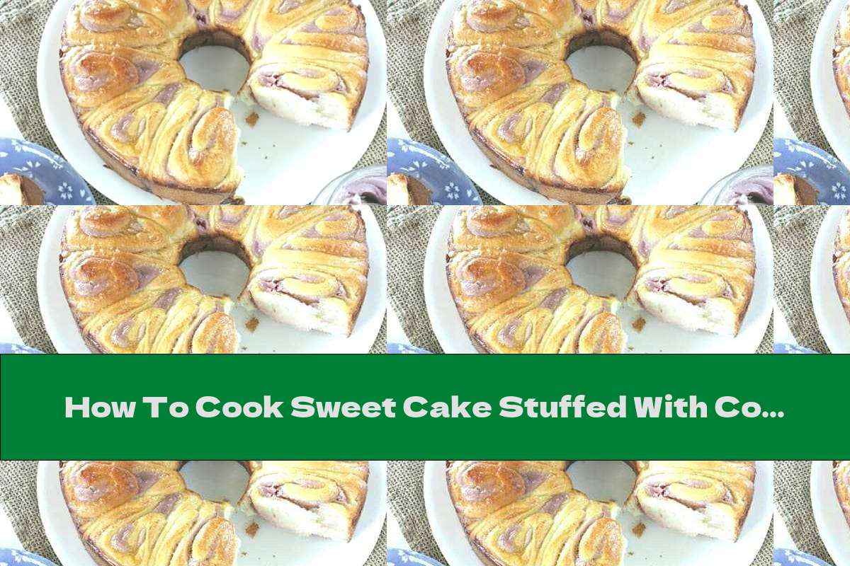 How To Cook Sweet Cake Stuffed With Coconut Cream With Strawberries - Recipe
