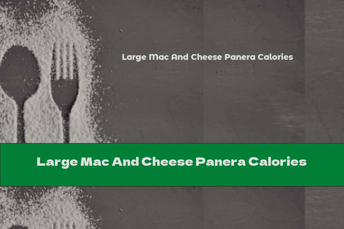 Large Mac And Cheese Panera Calories