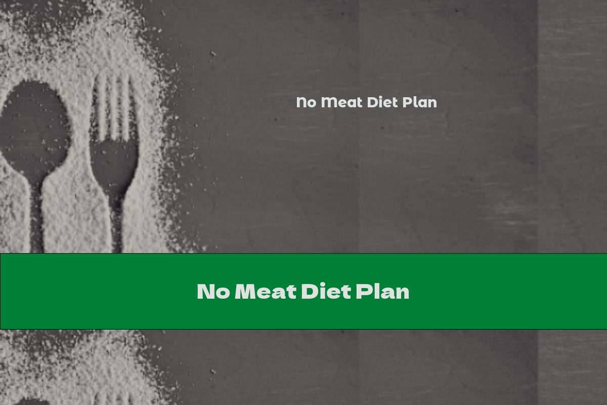 No Meat Diet Plan