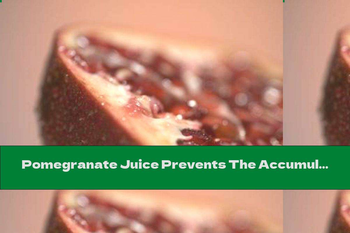 Pomegranate Juice Prevents The Accumulation Of Fat Around The Waist