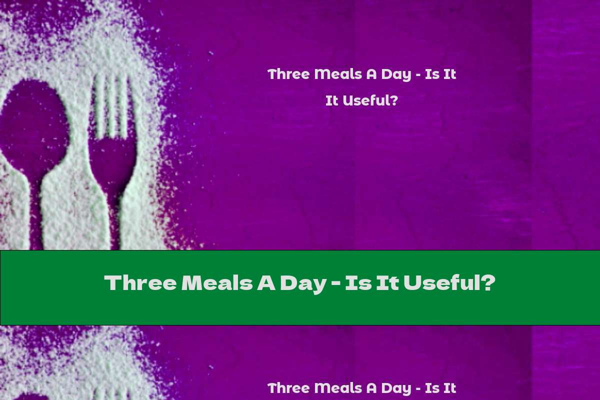 Three Meals A Day - Is It Useful?